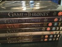 Game of Thrones DVD boxed sets