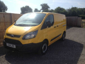 2014 14 FORD TRANSIT CUSTOM 2.2TDCI 123BHP EURO 5 ECONETIC 1 OWNER FROM NEW +VAT