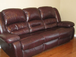 Sofa for Sale: Leather recliner