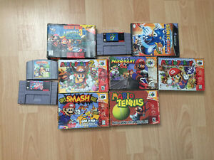 Nintendo 64, GameCube and Super Nintendo Games