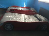 2x racing car beds for sale £150 open to sensible offers only