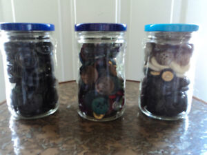 Three Bottles of Large Buttons