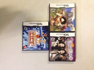 3 Nintendo DS games $5 each or all for $10