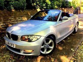 **SUMMER FUN** 2008 BMW 118i SE 2.0 PETROL AUTOMATIC SILVER CONVERTIBLE AUTO