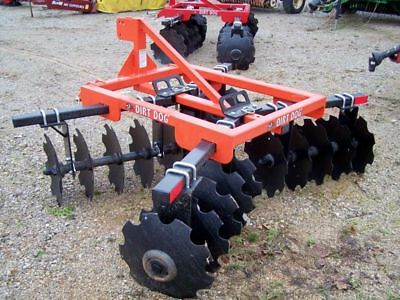 New Dirt Dog Hd 7 Ft. 3 Point 200-9 Disc Harrow- Free 1000 Mile Delivery From Ky