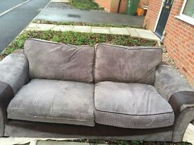 3&2 seater brown sofas