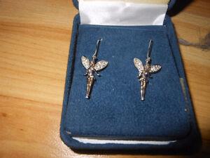 Sterling Silver Disney Tinkerbell earrings