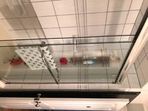 Glass shower door for sale