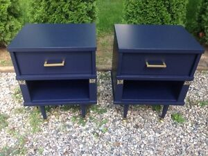 Night stands : navy & gold  London Ontario image 2