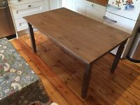 Wood table. 5ft X 3ft good condition