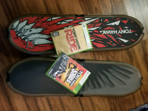 Xbox 360 skateboards and games