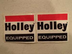 2 1970's Vintage Original  HOLLEY EQUIPPED Sticker / Decal Sarnia Sarnia Area image 1