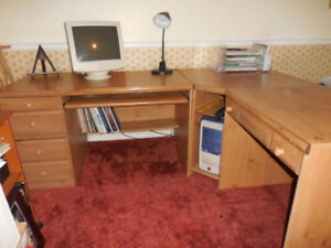 Solid Wooden Corner Desk