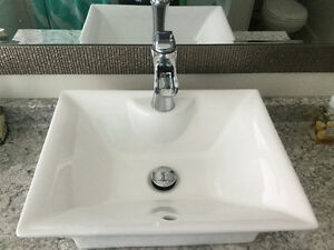 Bathroom vessel sink & faucet