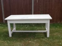 Long table with toughened glass top