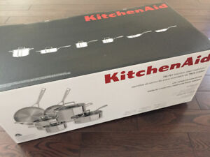 Pots and pans, KitchenAid 10pc tri-ply - induction ready
