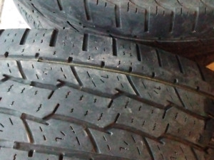 4 used tires with rims- Size 235/70/16
