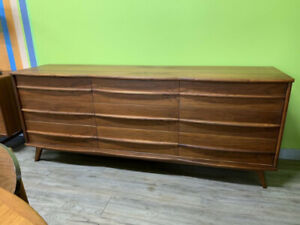 Mid Century Walnut Dresser by Gibbard Furniture