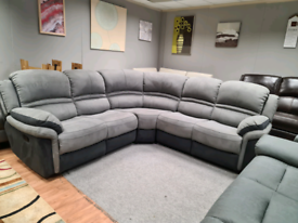 Brand new Corner sofa manual recliner