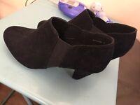 Women's girls black shoe boots size 3 brand new new look