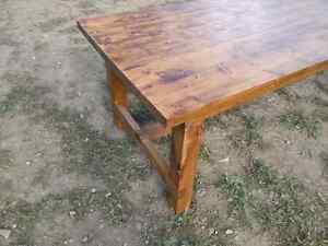Big harvest style table. Extremely solid, handmade. Peterborough Peterborough Area image 2