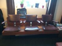 Vintage retro hairdresser seating