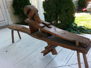 antique shaving horse