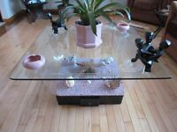 aquarium coffee table and end table