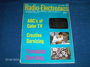 1967 BACK ISSUE-RADIO ELECTRONICS-TELEVISION-SERVICING-USED