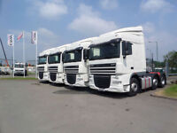 LARGE CHOICE OF 2011(11) DAF TRUCKS XF105.460 6X2 SPACECAB TRACTOR UNITS