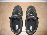 a pair of steel toe safety shoes for sale