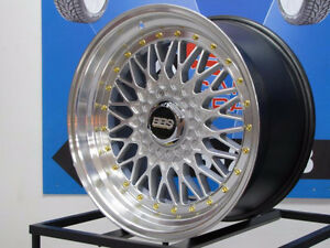 18'' BBS RS REPLICA 5x114.3 5x120 STAGGERED WHEELS 905 463 2038
