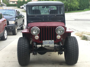 1949 Willy's CJ2A Jeep with small block