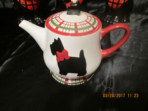 L@@K! SCOTTIE DOG TEAPOT  WITH COVERED MUGS FOR SALE