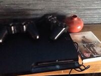 PS3 with cod 2 and 2 controller and cables