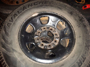 Winter tires and rims 265/70/16