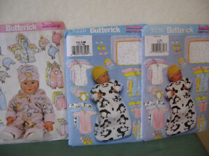 Butterick sewing patterns..Baby and Toddler