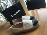 Chanel espadrilles to order white leather all sizes