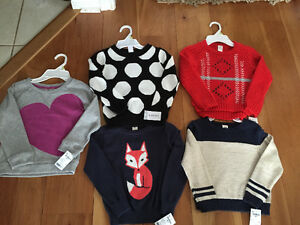 New! Carters and Osh Kosh sweaters girls size 4