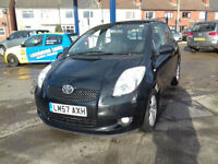 2007 Toyota Yaris 1.3 VVT-i TR 61,000 miles, great history ,1 lady owner