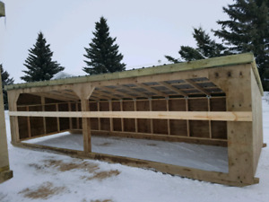 Calf and horse shelters