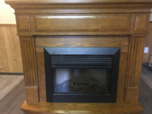 Beautiful Solid Wood  Electric Fireplace.