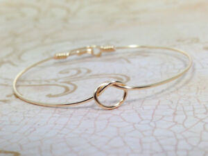 4 Gold Plated knot bracelets, great Bridesmaid gift, wedding