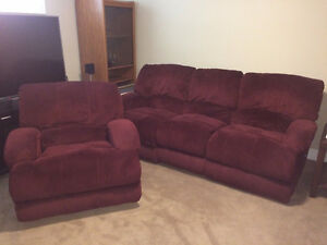 Microfibre Couch and Chair combo