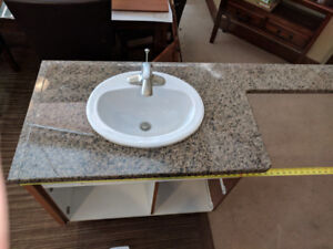 Bathroom vanity (granite) with base and sink