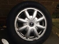 Mini one 15 inch alloy and tyre