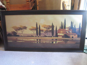 very large canvas in frame / nature scenes