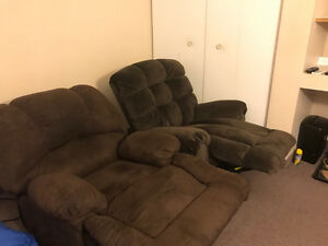Two comfortable recliners