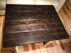 TABLE ANTIQUE PETITE VIEILLE PLANCHES DE PIN