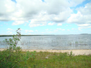 Sandy lake front lot at South Stoney Resort on Delaronde Lake